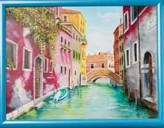 Sunny day in Venice by ArtforInterior on Etsy Sunny Days, Home Art, Venice, Sunnies, Oil, Pictures, Painting, Etsy, Vintage