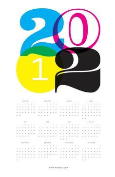 2012 calendar cmyk