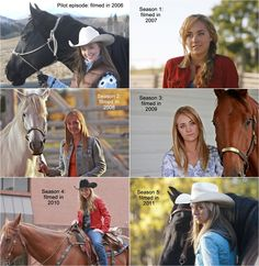 #Amber_Marshall as character #Amy_Flemming on #Heartland, from age 15 to 20, corresponding to seasons 1 through 5.