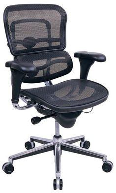 #Eurotech #Ergohuman Mid Back Mesh Ergonomic #Chair - #comfort along with #style.