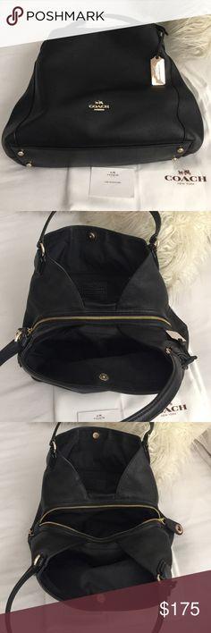 Authentic Coach handbag Black pebble leather Coach bag Coach Bags Shoulder Bags