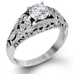"""Vintage Vixen Collection"" Diamond Engagement Ring"