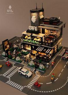 Lego Modular, Lego City, Lego Display, Lego Design, Lego Friends, Photo Lego, Legos, Box Container, Lego Sculptures