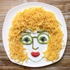 Food Art. Just some random lady. My kids said she looks creepy:)