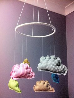 Home made cloud baby mobile