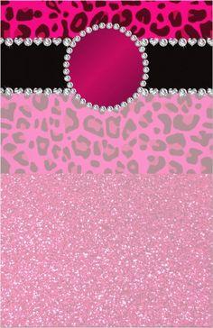 monogram pink glitter leopard - uploaded by Lynn White