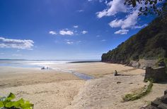 Llansteffan Beach, Carmarthenshire, West Wales by discover carmarthenshire, via Flickr