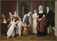 Christoffer Wilhelm Eckersberg (1783–1853) Die Familie Nathanson, 1818 Öl auf Leinwand, 126 x 172,5 cm Kopenhagen, Statens Museum for Kunst Foto: SMK - The National Gallery of Denmark
