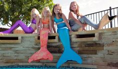Mermaid Tails for little girls that you can actually swim with! This would so make me feel like Ariel!