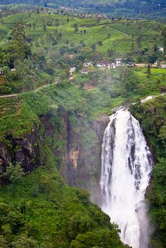 Devon Falls - Nuwara Eliya, Sri Lanka....@Ana Holland. honey moon much?! i don't think this could be more perfect