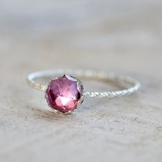 Pink sapphire gemstone ring (32.00 USD) by PraxisJewelry