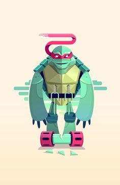 I think the uncommon design choices for Raphael, by Robert Fear, make it a really interesting and cool take on one of the Teenage Mutant Ninja Turtles. Comic Character, Character Design, Dragons Online, Branding, Geek Art, Graphic Design Inspiration, Daily Inspiration, Teenage Mutant Ninja Turtles, Tmnt