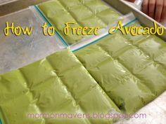 Paleo Pointers: How To Freeze Avocado - Mormon Mavens in the Kitchen