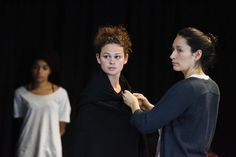Time and the Conways - in rehearsal. Photo by Robert Day