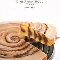 Easy+Gooey+Cinnamon+Roll+Cake+@keyingredient+#cake+#easy