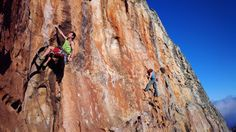Rock climbers in South Africa