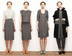 lauren moffatt fall 2014 | calivintage | I love the pattern and cut of the pencil skirt.