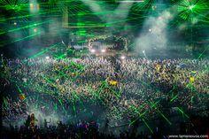 Tomorrowland. Green lasers.  #tomorrowland #edm
