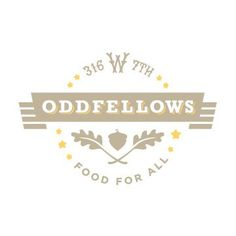 restaurant logo: oddfellows - typography, illustration and shape Stationary Branding, Stationery Set, Logo Branding, Graphic Design Tools, Tool Design, Logo Restaurant, Restaurant Design, Tattoo Now, Types Of Lettering