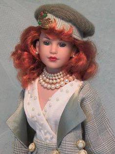 """Kitty Collier (18"""")-outfit by Magalie Houle Dawson - her custom doll designs are just magnificent! - doll by Robert Tonner."""