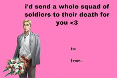 Valentines Anime, Funny Valentines Cards, Anime Pick Up Lines, Zoo Wee Mama, Aot Memes, Pickup Lines, Gaming Memes, Wholesome Memes, Mood Pics