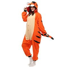 VU ROUL Unisex Adults Costumes Kigurumi Onesie Bengal Tiger Size UK XL  Anime Cosplay Costumes 48333c98a