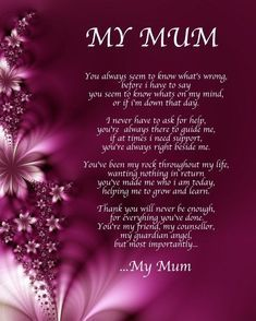 Birthday Quotes : Personalised My Mum Poem Birthday Mothers Day Christmas Gift Present… Mother Birthday Quotes, Happy Birthday Mother, Happy Mothers Day Wishes, Happy Mother Day Quotes, Birthday Poems, Happy Birthday Mom From Daughter, Mothers Day Verses, Mum Birthday, Poem On Mother