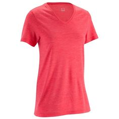 14,99€ - Bergsport_BekleidungDamen - Merino T-Shirt TechWool 50 Light Damen pink - QUECHUA