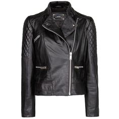 Mango Quilted panels leather jacket and other apparel, accessories and trends. Browse and shop 21 related looks.
