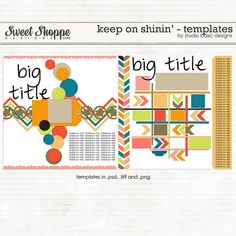 Keep On Shinin' {templates} by Studio Basic http://www.sweetshoppedesigns.com/sweetshoppe/product.php?productid=25971=579=1