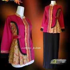 Batik Fashion, Hijab Fashion, Fashion Dresses, Blouse Batik, Batik Dress, Dress Brokat Modern, Mode Batik, Chanya Choli, Fancy Tops