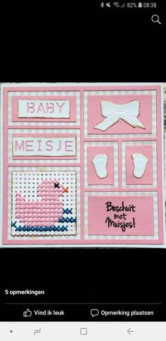 Mini Cross Stitch, Marianne Design, Baby Cards, Minis, Paper Art, Diy And Crafts, Have Fun, Bunny, Scrapbooking