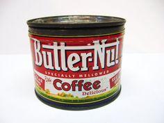 Vintage Butternut Coffee Can  one half pound by DimeStoreVintage