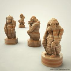 monkey statue art