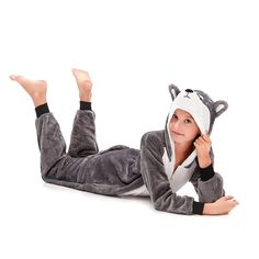 Grey Plush Onesies Huskie – alfagoody Adult Onesie Pajamas, Animal Pajamas, Girls Pajamas, Cute Onesies, Animal Costumes, Girl Humor, Animals For Kids, Club Dresses