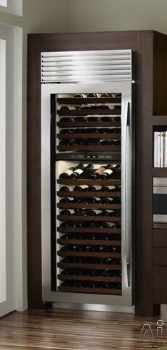 Sub-Zero Wine Cooler Wine Cooler & Beverage Center - Classic Stainless-Left Hinge Beverage Refrigerator, Wine Fridge, Kitchen Pantry Cabinets, Wine Cabinets, Kitchen Design Gallery, Beverage Center, Sub Zero, In Vino Veritas, Italian Wine