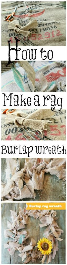 DIY Burlap Rag Wreath @Melissa Schnecke LeHane   This is the burlap wreath I saw!!