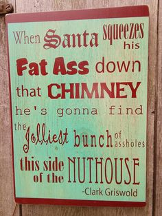 Typographic Christmas Vacation Clark Griswold by ShabtownSigns