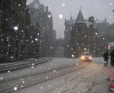 Snowy Day in Edinbugh- Scotland