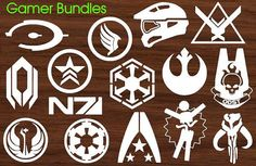 Gamer Decals Pick Two Mass Effect Halo & Star Wars by DWDesign8, $10.00