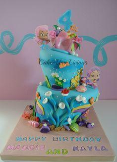 Birthday Cakes - Topsy Turvy Bubble guppies Cakes~
