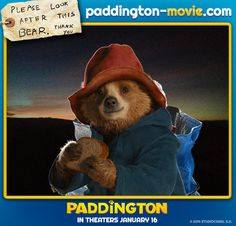 Please look after this bear, thank you. Paddington in theaters January 16.and go to padington.com