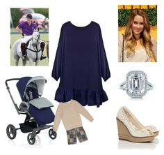"""Duke, Duchess, and Prince John at Polo Match"" by royal-fashion ❤ liked on Polyvore featuring Tory Burch, Cynthia Rowley, Tiffany & Co. and Peek"