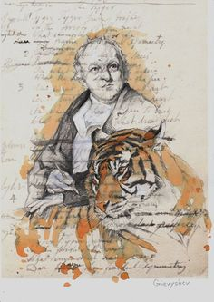 William Blake by Oleksii Gnievyshev, pencil and tea, acrylic William Blake, Crayon Art, Melting Crayons, White Acrylics, Rembrandt, Prismacolor, Artist At Work, Art World, Saatchi Art