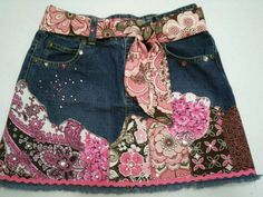 reciclar pantalones en falda