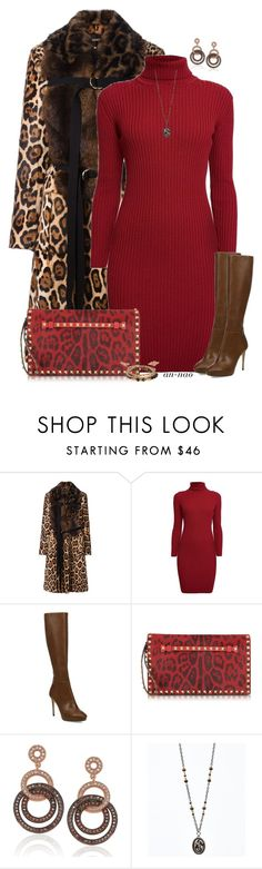 """""""Brown and Red."""" by an-nao ❤ liked on Polyvore featuring Givenchy, Rumour London, Jimmy Choo, Valentino, Suzy Levian and Chan Luu"""