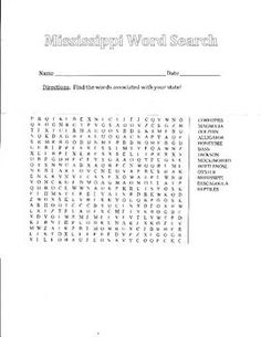 word search, mississippi - Google Search