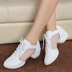 Women's Sneakers Spring Fall Leather Outdoor Casual Flat Heel Lace-up 5261739 2017 – $51.47