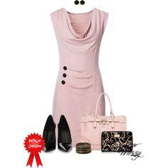 Pink & Black, created by wuzzyswardrobe on Polyvore