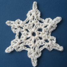 11 Free Crochet Patterns for Pretty, Festive Snowflakes: Crochet Snowflake Free Pattern